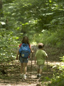 children-hiking