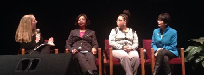 Susan M. Wolf, Shirley Lacks, Victoria Baptiste and Dr. Ruth Faden