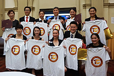 China Champions receive Tucker Center T-shirts