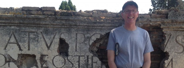 Gary Peter takes a break from writing to explore the ruins of Ostia Antica outside of Rome.
