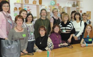 ICI's Brian Abery (center) and Renáta Tichá (to his right) working with educators in Siberia to improve inclusion of children with cognitive disabilities in schools.