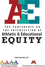 image of logos from 2016 Conference on the Intersection of Athletic & Educational Equity (AE)