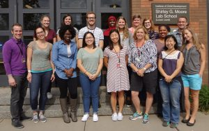 The Lab School staff welcome students on the first day of class for 2016-17.