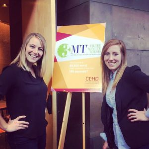 image of Morgan Betker and Madelleine Orr, winners at the CEHD 2017 Three Minute Thesis contest