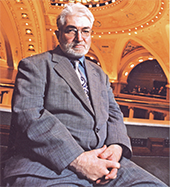Photograph of Cliff Poetz, self-advocate for people with disabilities, at the Minnesota State Capitol.