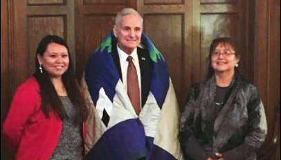 Vanessa Goodthunder and Mark Dayton
