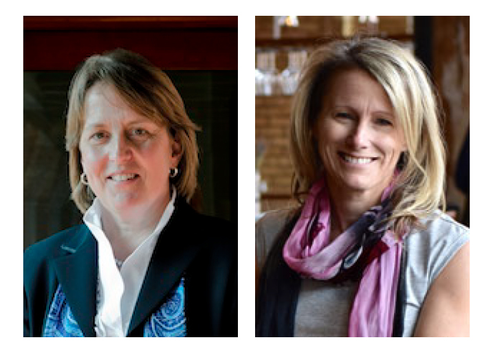 Headshot images of Diane Wiese-Bjornstal, Ph.D., and  Nicole M. LaVoi, Ph.D.
