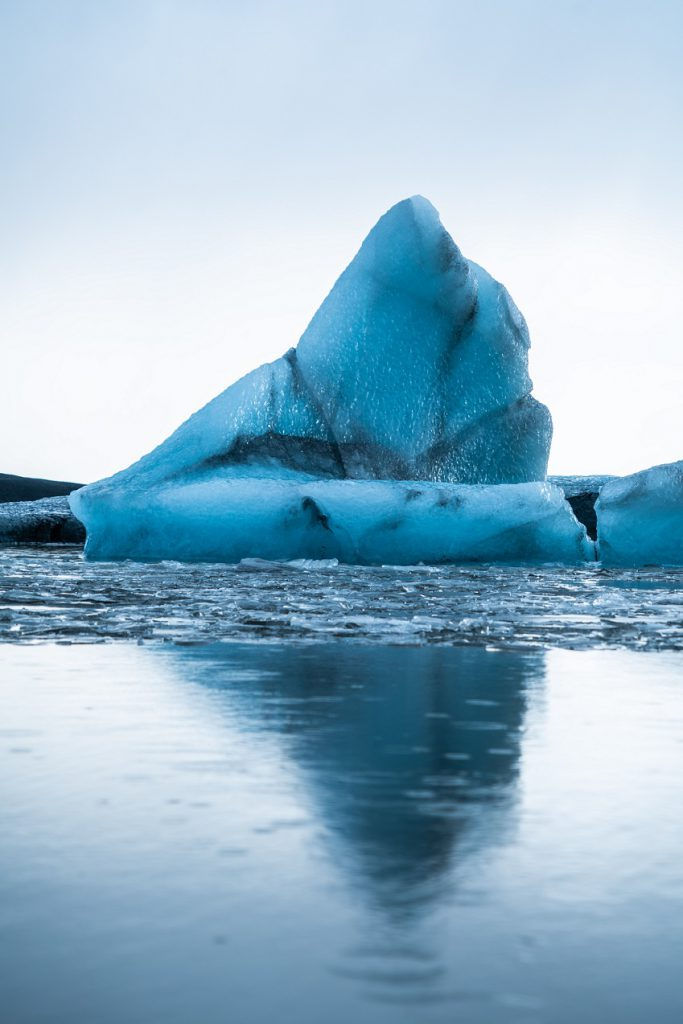 Photo of an iceberg